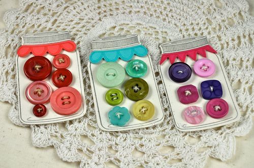 Button Jar Embellies & Tags