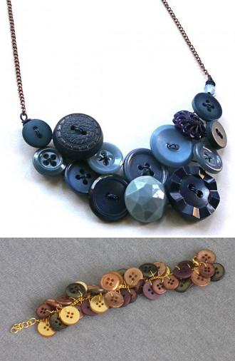 button necklace bracelet